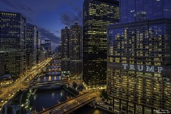 Trumped Out Chicago (Tony Lau Photographic Art) Tags: county city blue sky chicago river illinois twilight cook bridges hour scapes chicagoist 2016