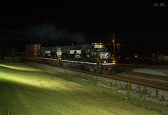 NS G94 at Austell with i2G (travisnewman100) Tags: railroad night yard train georgia pig ns norfolk trains southern division whitaker inman austell emd gp60