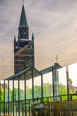 St. Matthuskirche, Berlin (dedalus11) Tags: windows berlin reflections germany deutschland churches kirchen dreamy museums reflexionen museen spiegelungen