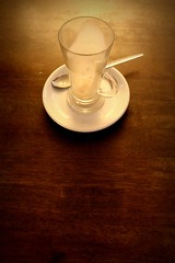 155.365.2016 (johnny the cow) Tags: cup glass coffee wales photo cafe italian empty diary cymru aberystwyth collection delicious 365 latte catalogue ceredigion canoli 2016 aphotoaday 366 agnellis
