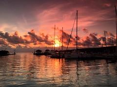 Sunset in Portoroz (vannuc) Tags: light sunset sea sun reflection tramonto slovenia iphone riflesso portoroz