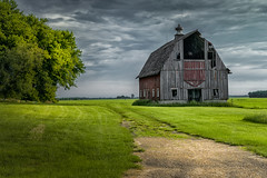 Road Always Ends (henryhintermeister) Tags: summer minnesota clouds rural outdoors farming barns sunsets oldbarns nostalgia farms pastoral mankato countryliving rainstorms