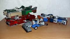 Corvega wrecks and Street Sweeper (Brickule) Tags: robot lego apocalypse 50s fallout apoc corvega