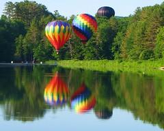 2016 Quechee Hot Air Balloon Festival (Heartlover1717) Tags: reflections hotairballoon hotairballoons splashanddash quecheevt splashndash ottauquecheeriver deweyspond quecheehotairballoonfestival