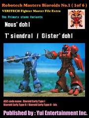Robotech Masters' Bioroids No.1 ( 1 of 6) , the primary stage variants (yuiyuasa) Tags: southerncross cavalry robotech zor robotechmasters bioroid zorprime superdimention