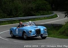 DSC_6579 - Lancia Aurelia B24 America - 1955 - Desinger Kai - Le24ToursDupont (pietroz) Tags: silver photo foto photos flag historic fotos pietro storico zoccola 21 storiche vernasca pietroz