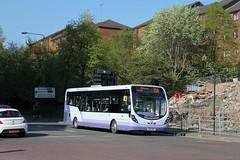 First Glasgow - SN14 DYP (63233) (MSE062) Tags: bus scotland floor glasgow low hamilton first single wright motherwell decker lanarkshire blantyre dyp streetlite 63233 sn14 sn14dyp