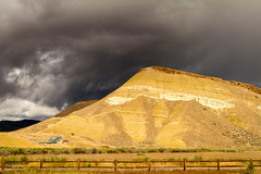 Leaving The Hills (JuneBugGemplr) Tags: paintedhills johndayfossilbeds butte sandstone