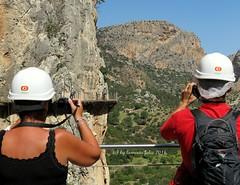 Caminito del Rey-Ardales-El Chorro (Mlaga) (lameato feliz) Tags: paisaje elchorro rocas ardales montaas caminitodelrey desfiladero parajenatural senderistas