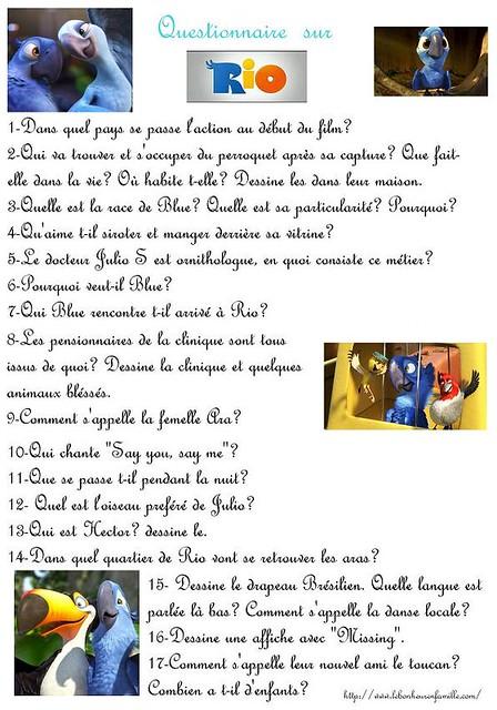 AAAAAAAAAAAAAAAAAle bonheur en famille questionnaire Rio