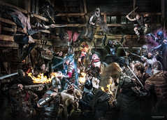 Les Artisans d'Azure (Von Wong) Tags: nature barn fight power action awesome azure medieval powerful epic artisans gn larp grandeur