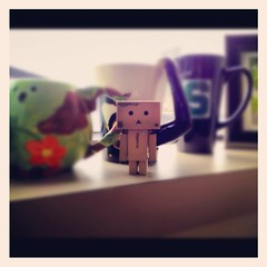 12/52: Officemate (aebphoto) Tags: frommyphone iphone danbo week12 1252 project52 week1252 revoltechdanbo instagram iphone4s worldofdanbo danbo52