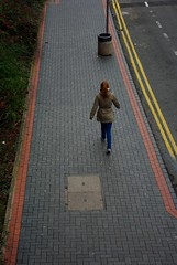 20120129-34_Coventry_Striding out - Bishop Street (gary.hadden) Tags: urban cityscape coventry bishopstreet photocourse lonewalker coventrycitycentre stridingout tothehills garyhadden