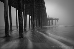 Pismo Beach II > EXPLORED (Silent G Photography) Tags: california ca longexposure blackandwhite bw monochrome fog clouds sunrise mono pier waves wideangle explore motionblur le centralcoast pismo pismobeach hightide 2012 hoya reallyrightstuff rrs neutraldensityfilter neutraldensity explored watermovement bh55lr nikond7000 nikkor1635mmf4 5stopndfilter markgvazdinskas silentgphotography tvc33