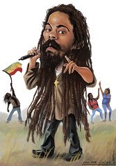 Damian Marley (Carlos Castro Prez) Tags: africa red white black color green yellow dreadlocks illustration composition photoshop paint jamaica caricature ethiopia zilla jamaican ras rasta bless rastafari dreds lionofjudah carloscastro damianmarley setupshop ccp85 jrgongmarley