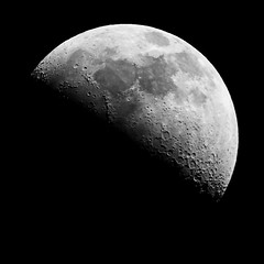 Our Moon #1 (EXPLORED #4) (Luke Peterson Photography) Tags: bw moon contrast grey rocks 11 astro craters astrophotography planet schmidt cst cassegrain cpc1100