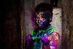 Expression of color # 5 (Kazi Sudipto) Tags: blue color colour colors face festival kids canon children fun purple expression story dhaka tradition hinduism holi oldtown bangladesh 550d shakharibazar