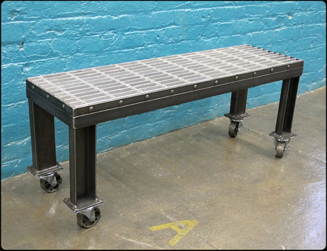 Thigh-Scraper Steel Bench