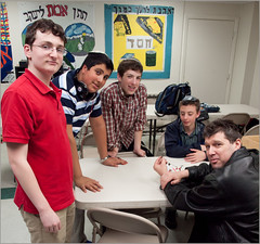 Members of the Rambam Mesivta-Maimonides High School Robotics team (NewYorkBrass) Tags: nyc gabriel robot jon classroom daniel avi danny peretz flam 2012 spier arduino lerner deutch robocupjunior rambam jondeutch dannyflam gabriellerner avispier mesivtamaimonides danielperetz