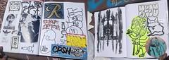 """BRING YOUR BLACK BOOK 3"" (BNW818) Tags: california park cats 3 cali de graffiti sticker san noho random smoke north tags spot valley hollywood skate writers fernando cinco mayo session safe slap kindness graff piece sfv trade bring 818 traders ceito zetoe bybb3 bringyourblackbook3"