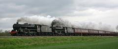 Dorrington Black Fives (Jonathan Malpass) Tags: train shropshire railway steamtrain blackfive stanier black5 45407 44871 lancashirefusilier