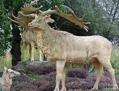 Megaloceros (Tiggrx) Tags: sculpture london mammal model stag dinosaur deer prehistoric crystalpalacepark megaloceros irishelk benjaminwaterhousehawkins