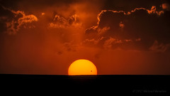 The Sun Sets on the 2012 Transit of Venus (Fort Photo) Tags: sunset red orange sun sol nature skyscape landscape solar amazing nikon bravo colorado venus dusk astrophotography transit co nofilter transitofvenus d300 pawnee pawneenationalgrassland weldcounty specsky 2012a
