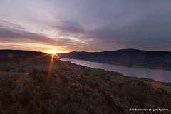 Cape Horn Sunrise (Dan Sherman) Tags: trees light sun green oregon forest sunrise river washington columbiariver pacificnorthwest vista columbiarivergorge capehorn