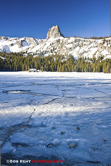Lake George Frozen (Bob Kent) Tags: california lake ice frozen george crystal mammoth easternsierras crag landscapephotography