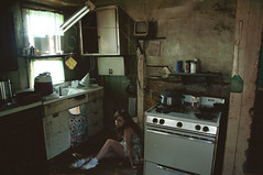 (yyellowbird) Tags: house selfportrait abandoned kitchen girl illinois lolita cari
