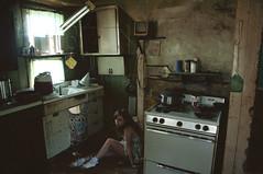 (yyellowbird) Tags: house selfportrait abandoned kitchen girl illinois lolita cari