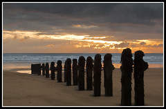 Day Trippers? (Dave Mac 77) Tags: sea sky sun beach clouds sunrise yorkshire coastal whitby northyorkshire groynes sandsend mygearandme mygearandmepremium mygearandmebronze mygearandmesilver mygearandmegold ringexcellence dblringexcellence