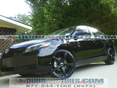 Toyota Camry 20 Inch Wheels Rims Drifz Jade R Black Wheels A Photo