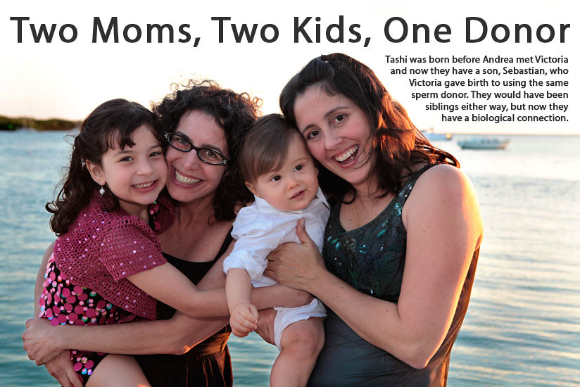 Two Moms, Two Kids, One Donor
