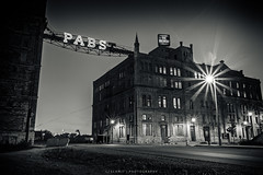 The Brewery (CJ Schmit) Tags: longexposure usa brick beer monochrome wisconsin canon lowlight unitedstates brewery milwaukee pbr pabst renovation toned thebrewery shutterdrag silvergelatin creamcity canonef1740mmf40lusm pabstblueribon portalwisconsinorgselected 5dmarkii canon5dmarkii cjschmit wwwcjschmitcom niksilverefexpro2 cjschmitphotography josephjzilber portalwisconsinorg060112