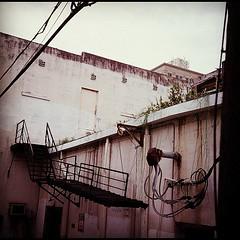 alley (david_stoessel) Tags: square alley kodak squareformat e100vs yashicad instagramapp uploaded:by=instagram