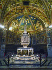Baptismal Font, Siena Cathedral from the front