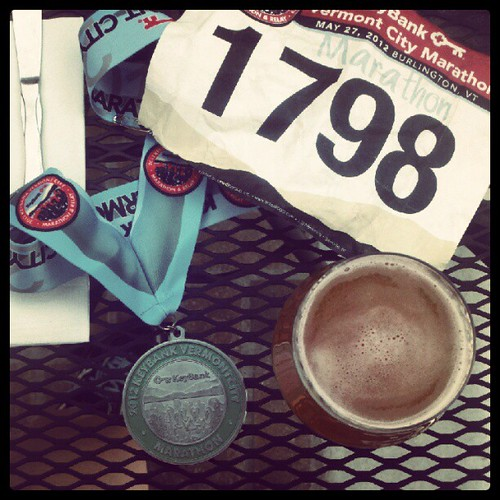 medal and beer