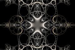 Crossroads (Ross Hilbert) Tags: sculpture art metal bronze silver gold chaos julia circles steel digitalart computerart fractal brass pewter mandelbrot mobius generativeart juliaset mathart fractalart algorithmicart mandelbrotset orbittrap fractalsciencekit apolloniangasket circleinversion kleiniangroup steinerchain
