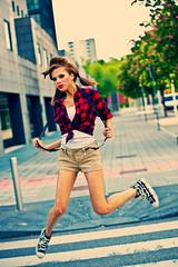 Jump (thescourse) Tags: portrait milan girl canon jump milano ritratto fashionmodel tamron70200 canoniani canoneos5dmkii
