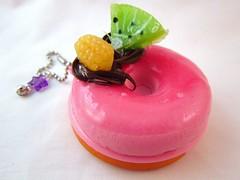 Kawaii Pink Donut Squishy Mirror (DoodieBear) Tags: pink japanese mirror keychain charm donut kawaii sweets