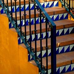 stairs in balcones (msdonnalee) Tags: stairs tile steps stairway treppe escalera scala escada escalier treppen escala 階段 лестница tilesteps سلالم photosfromsanmigueldeallende fotosdesanmigueldeallende