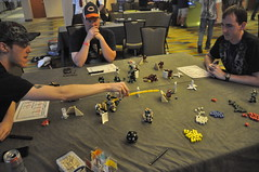 First Timers (Mitten Ninja) Tags: mobile demo comic lego denver frame zero con tabletop mecha mech