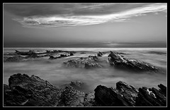 Jagged Waters (PatrickJamesPhoto) Tags: ocean california ca longexposure light sunset sea sky bw sun white seascape black beach nature water rock clouds landscape flow coast rocks long exposure outdoor shoreline lososos shore montanadeoro centralcoast slo sanluisobispo mdo pentaxk10d
