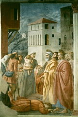 Distribution of the Goods of the Community and Death of Ananias (Ellis Art History) Tags: religious florence italian fresco renaissance masaccio 15thcentury brancacci quattrocento italianrenaissance ellisarthistory