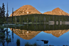 "Bald Mountain and Reids Peak (IronRodArt - Royce Bair (""Star Shooter"")) Tags: morning reflection uintas baldmountain passlake reidspeak highuintaswilderness highuintaswildernessarea"