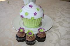 Cupcake Tower (irresistibledesserts) Tags: birthday green cake shower cupcakes purple