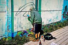 man at work (japanese forms) Tags: street streetart man beer graffiti random manatwork streetphotography mann adidas agfa streetshot vlaanderen aérosols sprühdose straatfotografie agfafilm strasenfotografie ©japaneseforms2014 aërosol