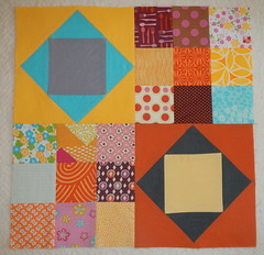 Stash Bee Hive #8 March Block (Tami's Tiki Hut) Tags: 9 quilting 9patch scrappyquilt