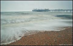 Brighton pier (Steve Denny) Tags: longexposure sea beach pier seaside brighton waves sony pebbles eastsussex englishchannel manfrotto timedexposure ndfilters sonydslr